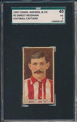 1907 Ernest Needham Cohen  Weenen   Co Sgc 40   Psa 3 Tough Card Of Uk Legend