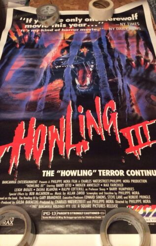 Howling 3 promo poster excellent see pics for any issues