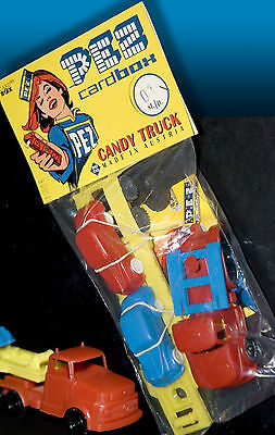 PEZ | CARDBOX WERBEBEUTEL 1996 incl. Original ROCO MERCEDES CANDY TRUCK 50s 60s