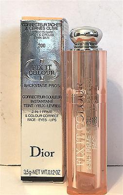 Dior Fix It Colour 2 in 1 Prime & Conceal Color Correct 200 Abricot Face Eye Lip