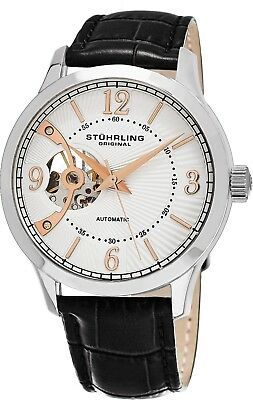 Stuhrling Men's Automatic Open-Heart Sunray Dial Self Winding Dress Watch 987.01