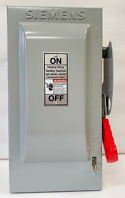 Siemens Hf321n 30 Amp 240v Fusible Heavy Duty Safety Switch Disconnect - New