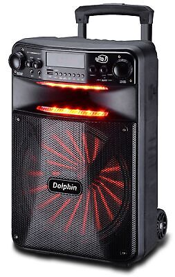 """Dolphin 2500W Rechargeable 12"""" Portable Bluetooth Speaker with LED's SP-1200RBT"""