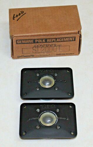 Polk SL2000 Silver Coil Dome Tweeters Pair NOS Genuine Replacement Original Box