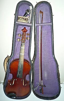 Genuine Antique 4-String 3/4 Violin with Original Bow & Case - Musical History
