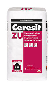 Adhesive and Rendering Base coat Polystyrene Foam Ceresit ZU 25kg