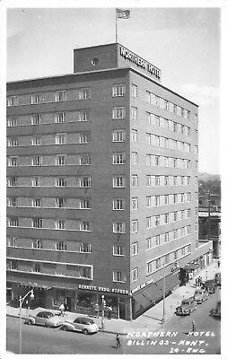 Billings Montana~Northern Hotel~Bennett Drug Store~Hourly Bus~1940s (Billings Montana Stores)