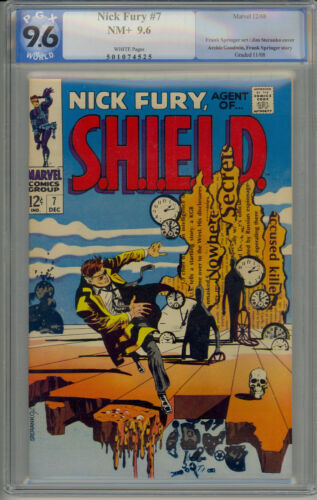 Nick Fury, Agent of SHIELD #7 PGX 9.6 - White Pages