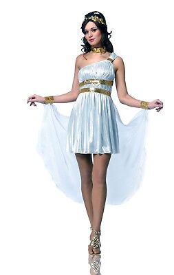 Greek Roman Goddess Queen Costume White Toga Dress Gown Fancy Venus - Venus Greek Goddess Costume
