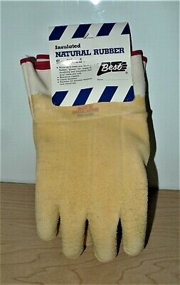 1 Dozen Best Insulated Natural Rubber Sanitized Gloves Size 10 96nfw N.o.s. Usa