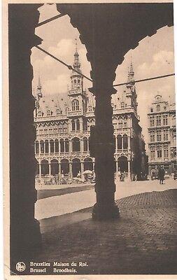 Vintage Postcard 1950 Kings House Grande Place, Brussels, Belgium  Maison du Roi Brussels Grand Places House