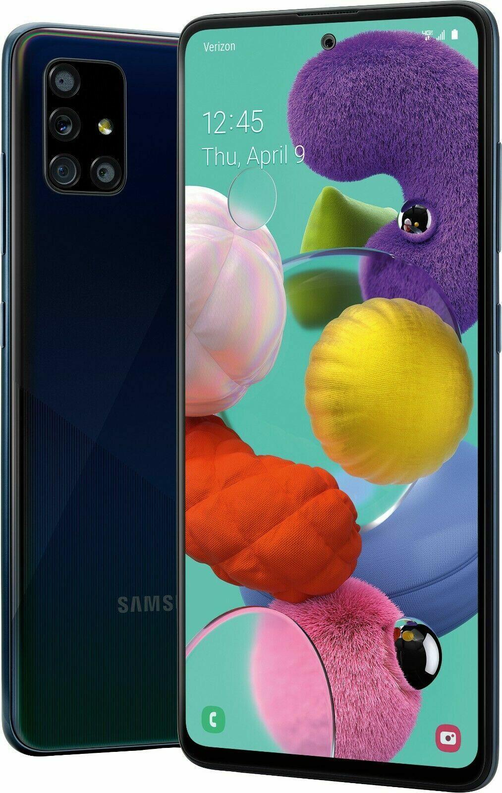 Android Phone - Samsung Galaxy A51 SM-A515U - 128GB - Prism Crush Black (Verizon) (Single SIM)