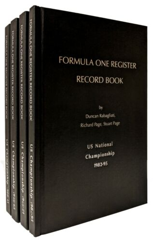Formula One Register UNITED STATES NATIONAL CHAMPIONSHIP 4 Volumes Racing (2019)