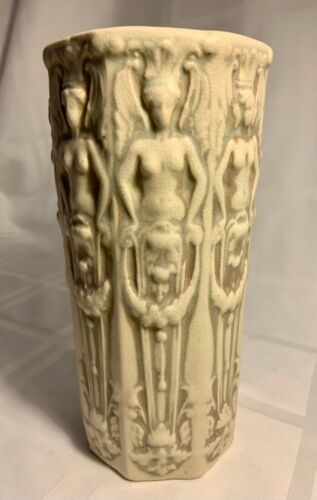 UNUSUAL WELLER POTTERY VASE WITH 8 NUDES CLASSIC! MINT!