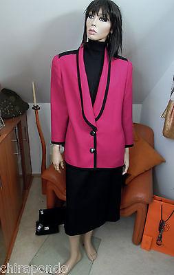 Louis Kostüm (Kostüm Winterkostüm Louis Feràud Gr. 36 Gr. 38 schwarz bordeaux violett purpur )