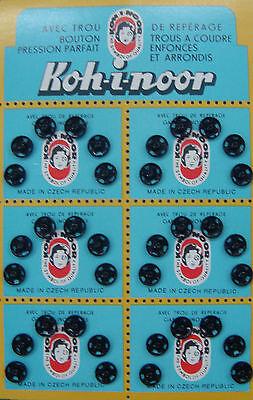 12 Bottoni automatici a pressione in metallo maschio +femmina colore nero mm 8,5