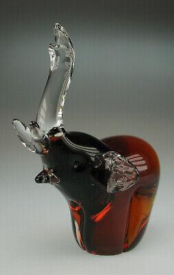 Hahn Glasskulptur James Art Glass 1,6 kg im Murano Stil Glasfigur Glas Handmade