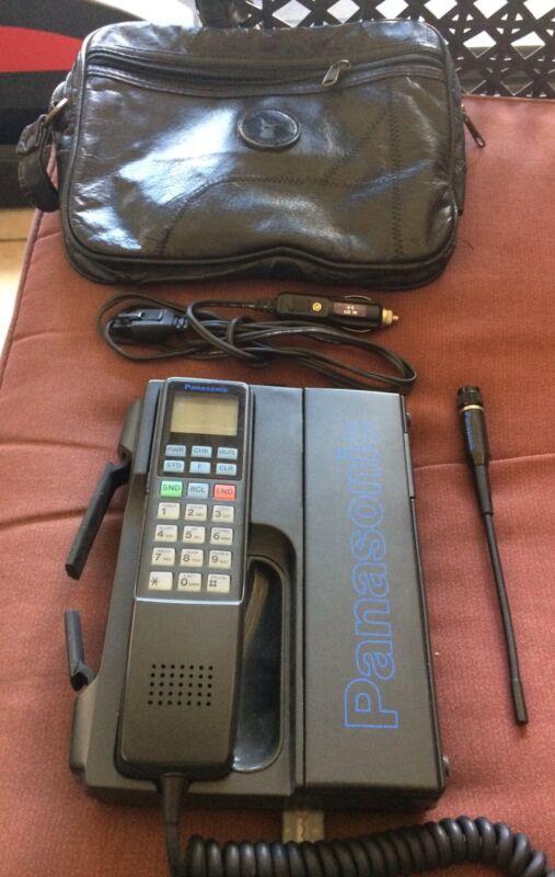 Vintage PANASONIC Mobile Phone W/ Adapter