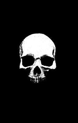 Schwarz Gerahmter Druck - Gotische Schädel Leer Auszugehen Kiefer Knochen