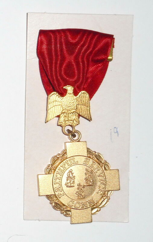 CONNECTICUT  Long Service Medal GOLD - 20 YEARS