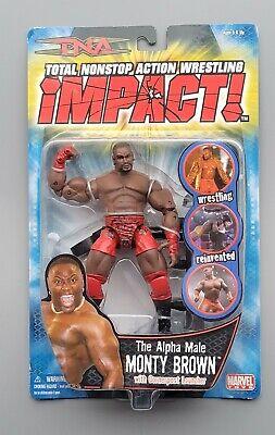 "wwe tna wwf ljn classic superstars ""the alpha male"" monty brown wrestling figure"