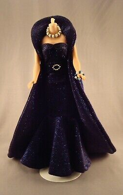 Gorgeous OOAK Evening Gown for Vintage Barbie, Silkstone, and FR Dolls