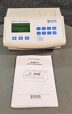 Hanna Instruments Hi 88713 Turbidity Meter W Power Supply Ac Adapter