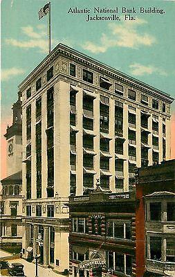 Florida  Fl  Jacksonville  Atlantic National Bank Building 1910S Postcard