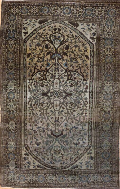 Fantastic Floral - 1880s Antique Oriental Rug - Handmade Carpet - 4.3 X 6.6