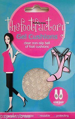 2 Gel Foot Cushions Ladies High Heel Shoe Insole Gel Comfort Sore Party Feet