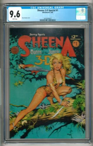 Sheena 3-D Special #1 (1985) CGC 9.6  White Pages  Dave Stevens   Blackthorne