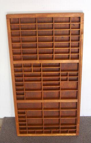 Vintage Wood Typesetters, Printers, Drawer Shadow Box, Hamilton?, 32x17, Nice