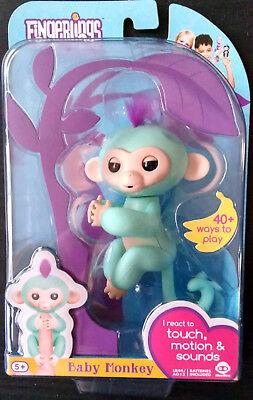 Brand New Wowwee Fingerlings Interactive Baby Monkey Toy Turquoise Zoe