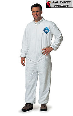 Dupont Disposable Tyvek Coverall Size Medium W Open Collar Wrist Ankle Ty120