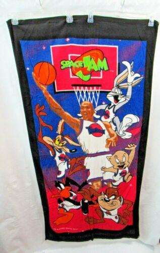 New Vintage  1996 Space Jam Beach Towel