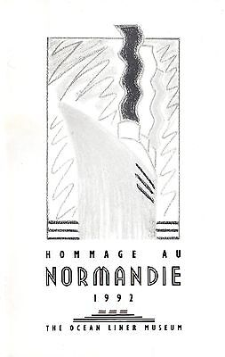 1992 NORMANDIE Exhibit Guide from Ocean Liner Museum - NAUTIQUES sHiPs WORLDWIDE
