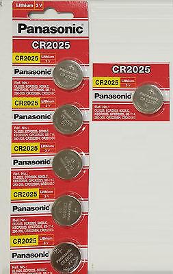 6 NEW PANASONIC CR2025 ECR 2025 Batteries 3V Exp.2025