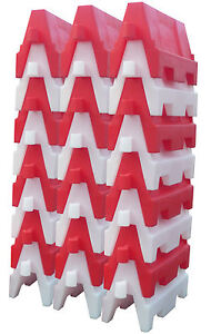 ** Evo Safety Barrier 1metre Sections  24 Pieces Road Safety Traffic Control **