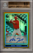 2009 Bowman Chrome Mike Trout Auto