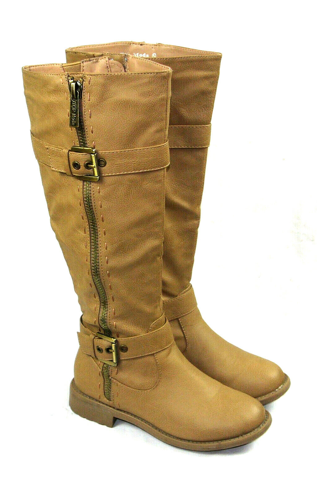 Top Moda Women's Taupe Knee High Riding Boots Size 5.5