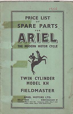 ARIEL 500cc MODEL KH FIELDMASTER ORIG. 1956 FACTORY ILLUSTRATED PARTS CATALOGUE