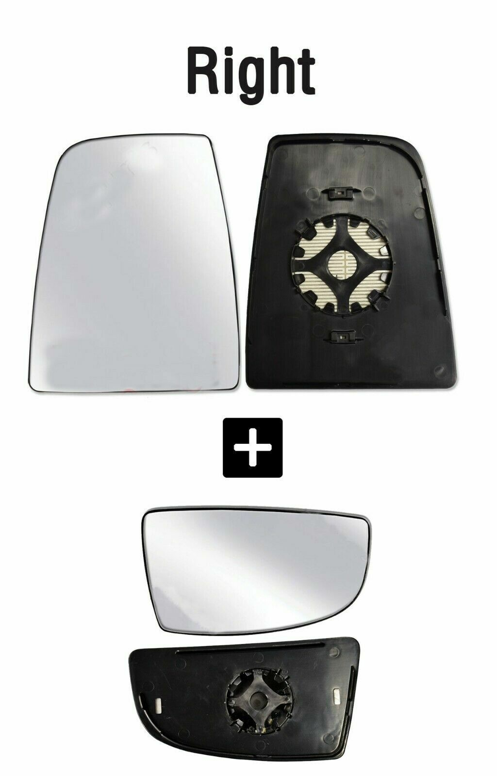 Ford Transit 150 250 350 Wing Mirror Large Glass Heated With Backing Left 014 17 Rainbowlands Lk