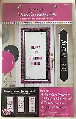 Customizable Door Decorating Kit Birthday Party Congrats Baby Girl Bon - Bon Voyage Party Decorations
