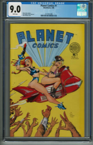 Planet Comics #1 Blackthorne CGC 9.0 White Pages