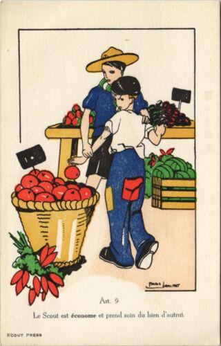 PC SCOUTING, LE SCOUT EST ÉCONOME ET PREND, Vintage Postcard (b28459)