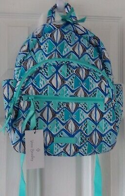 NWT NEW VERA BRADLEY COTTON GO FISH BLUE COMPACT  SMALL BACKPACK  $109.00