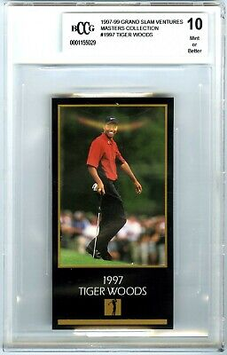 TIGER WOODS~1997 MASTERS COLLECTION BCCG-10 MINT+ 1998 GRAND SLAM ROOKIE RC CARD