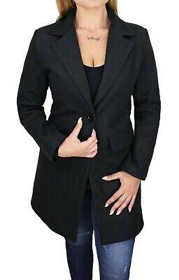 Cappotto giacca donna sartoriale nero invernale elegante 100% made in Italy
