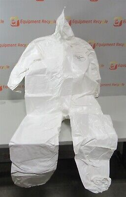 Dupont Tychem Sl Coverall Xl Hazmat Disposable Hood Protective New Lot Of 12