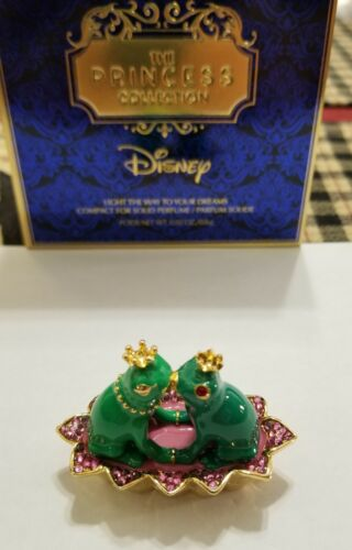 "Estee Lauder & Disney Solid Perfume Compact Frog Prince ""Light The Way"" NIBB"